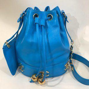 Authentic Vintage Chanel Bucket Drawstring Bag